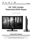 24 LED Combo Television/DVD Player