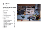 CW Adapter construction manual - Radio-Kits