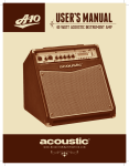 View User`s Manual [US] - Acoustic Amplification