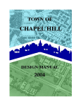 Design Manual - Town of Chapel Hill