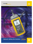Network Cabling Test Solutions Catalog