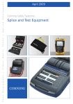 Splice and Test Equipment