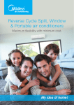 Reverse Cycle Split, Window & Portable air conditioners