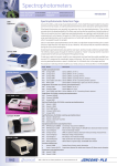 Jencons laboratory catalogue UV visible spectrophotometers