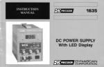 DC POWER SUPPLY With LED Display