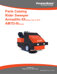 Parts Catalog Rider Sweeper AM7D-III(Diesel)