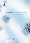CliniMACS® Cell Separation System, Product catalog 2008