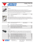 Dutec Catalog Price Guide