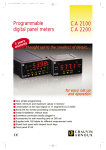 Programmable digital panel meters