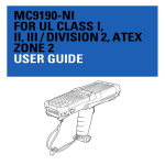 mc9190-ni for ul class i, ii, iii / division 2, atex zone 2 user guide