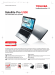 Satellite Pro U300 product flyer (June 2007)
