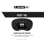 Line 6 POD® HD Advanced Guide (Rev. B, v.1.03