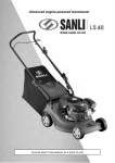 Advanced engine-powered lawnmower www.sanli - Tooled