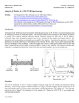 Analysis of Plastics by ATR FT-IR Spectroscopy.