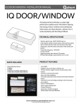 IQ Door:Window Installation Manual