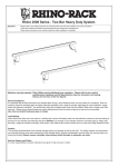 Rhino-Rack Roof Bars Installation Instructions