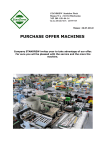 PURCHASE OFFER MACHINES
