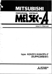 A2A(S1),A3ACPU - User`s Manual (Supplement)