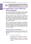 5.3 Receiving e-mail, MMS and SMS messages - Mobile