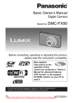 Panasonic Lumix DMC-FX90 User`s Manual