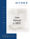 MRX Microplate Reader User Manual