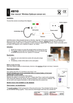 User manual Wireless Optiscan sensor set: