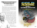 Gold Prospecting with a VLF Metal Detector by Dave