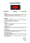 User manual ALFA(NET) 35 Cool/Defrost Thermostat.