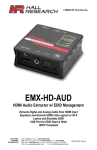 Hall Research EMX-HD-AUD-E Manual