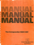 Compcolor 8001 User Manual