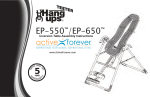 Teeter Hang Ups Sport EP-550 Instructions