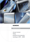 Access Control SiPass products & accessories catalogue 2005
