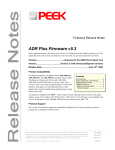 ADR Plus Firmware Release Notes