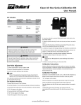 Clean Air Box Series Calibration Kit User Manual www.bullard.com