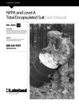 NFPA and Level A Total Encapsulated Suit User Manual