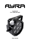 ComPar 20 3-in-1 RGB LED spot User manual - Bax