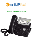 c. Yealink T22P User Guide