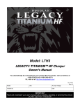 Legacy Titanium HF Charger Manual