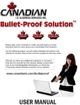 canadian is bullet-proof™ management console