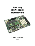 Kootenay (SEA440LX) Motherboard User Manual