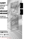 Sharp DV-HR350F User Guide Manual