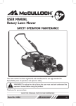 USER MANUAL Rotary Lawn Mower SAFETY