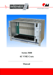 Series 3000 6U VME Crate - Manual - W-IE-NE