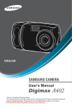 Samsung Digimax A402 User`s Manual