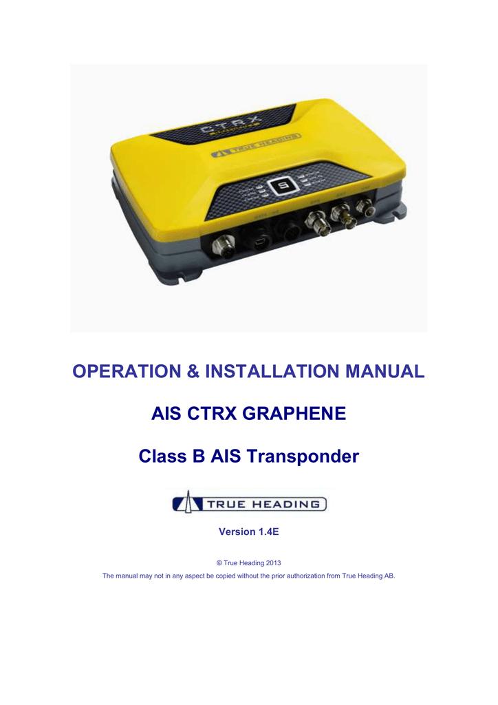 AIS CTRX GRAPHENE & GRAPHENE+ Manual v1 4E