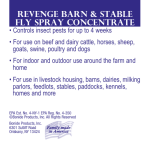 Revenge barn & stable fly spray concentrate