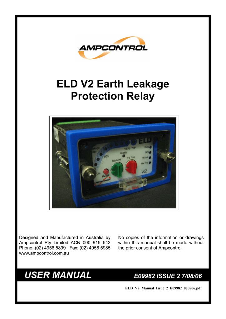 ELD V2 Earth Leakage Protection Relay