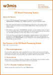 CCE Result Processing System Key Features of the CCE