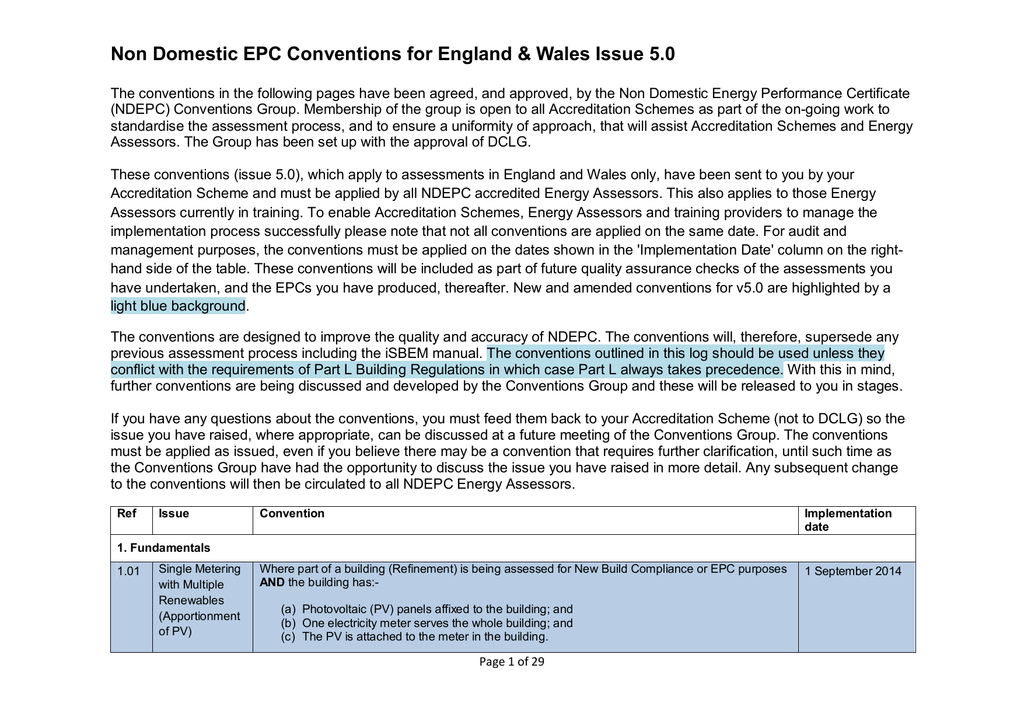 Non Domestic Epc Conventions For England Wales Issue 50 Hvac Drawing