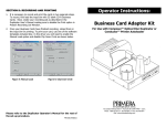 Operator Instructions: Business Card Adapter Kit